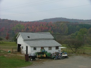 Outbuilding we used as buck housing and a chicken coop.  Has two rooms and loft space overhead.